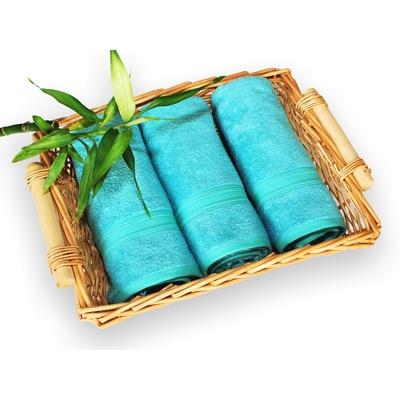 bambusový ručník 50x100 cm tyrkysový