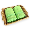 bambusová osuška 70x140 cm světle zelená