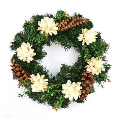 Věnec s chryzantémami 30 cm