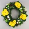 Věnec s chryzantémami