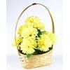 Košík s chryzantémami