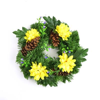 Věneček s chryzantémami 20 cm