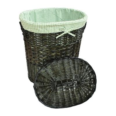 Koš na prádlo proutěný zelený