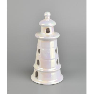 Keramický maják s LED osvětlením
