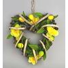 Ratanové srdce s jarní dekorací