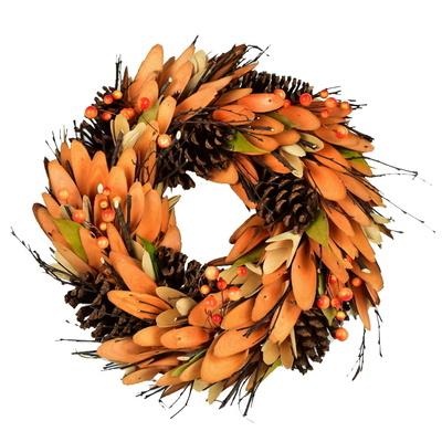 Podzimní věnec zdobený
