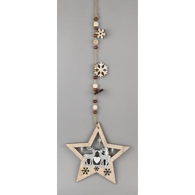 Hvězda dřevěná závěs