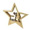 Dřevěná hvězda s jelenem