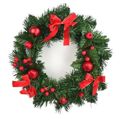 Věnec vánoční zdobený