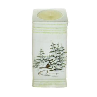 Svícen keramický se svíčkou