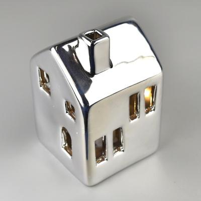Domeček stříbrný s LED osvětlením