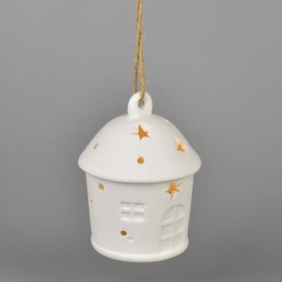Lucernička keramická závěsná s LED osvětlením