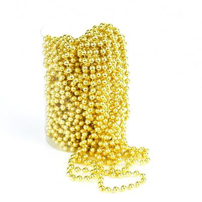 Perličková girlanda zlatá 15 m