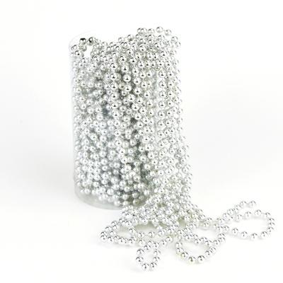 Perličková girlanda stříbrná 15 m