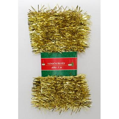 Vánoční řetěz zlatý 5cm x 5m