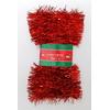 Vánoční řetěz červený 5cm x 5m