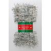 Vánoční řetěz stříbrný 5cm x 5m