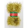 Vánoční řetěz zlatý 7cm x 2,5m