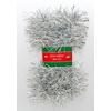 Vánoční řetěz stříbrný 7cm x 2,5m
