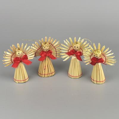 Andělíčci slamění - 4 ks
