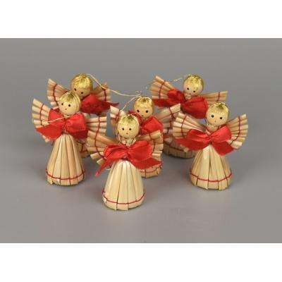 Slaměné figurky, 6 ozdob