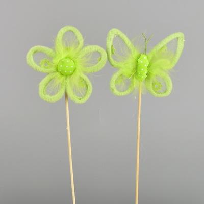 Kytička a motýl zápich zelený