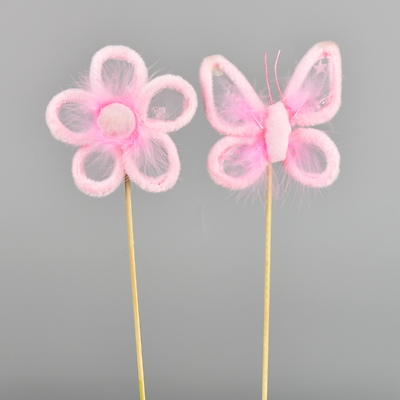 Kytička a motýl zápich růžový