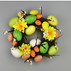 Velikonoční věneček s vajíčky a kytičkami