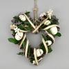 Velikonoční ratanové srdce s dekorací