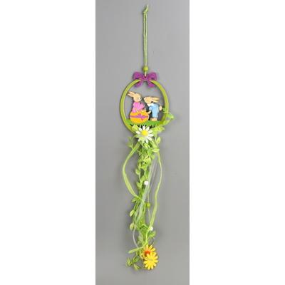 Velikonoční dřevěná závěsná dekorace